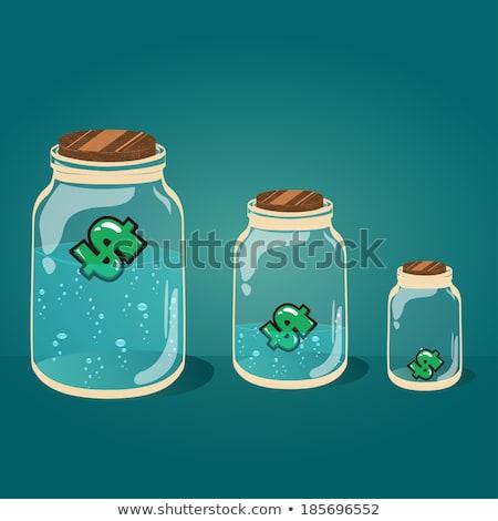 Dollars 'conserved' in glass jar Stock photo © digitalr