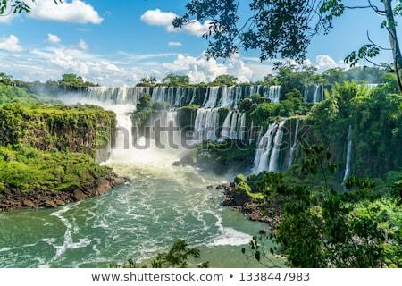 Park trópusi vízesések esőerdő tájkép erdő Stock fotó © daboost