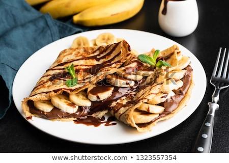 crepe on plate Stock photo © M-studio