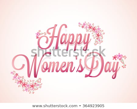 Gyönyörű boldog nőnap terv virágmintás dekoráció Stock fotó © SArts