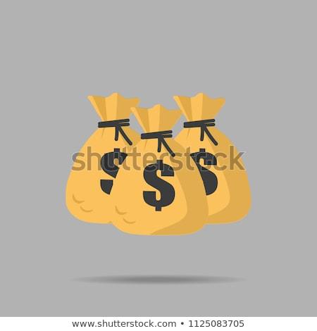 Deuda marrón dinero bolsas signo ilustración Foto stock © alexmillos