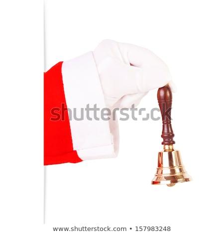 Santa claus holding a handle bell Stock photo © wavebreak_media