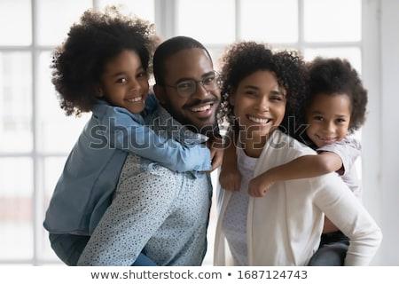Семейный портрет домой семьи Европа счастье сидят Сток-фото © IS2