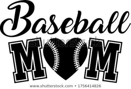 Beisebol mamãe tipografia projeto bola Foto stock © Andrei_