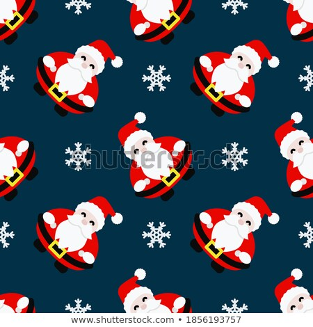 Santa Claus Head in Snow Seamless Pattern Stock photo © toffees