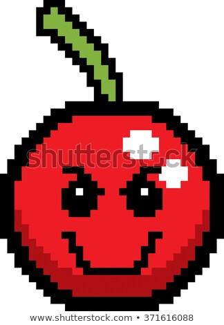 Evil 8-Bit Cartoon Cherry Stock photo © cthoman