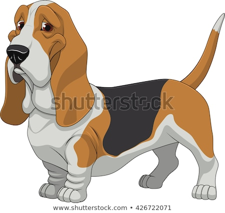 Cartoon гончая ходьбе иллюстрация животного улыбаясь Сток-фото © cthoman