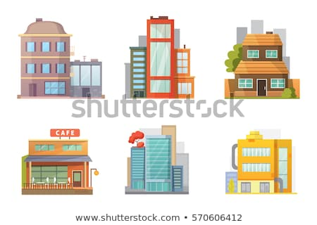 City Buildings and Shops Cartoon Illustration Stock photo © artisticco