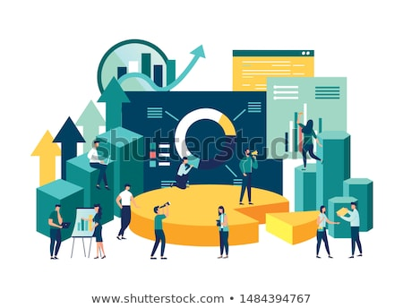 Infographics and Growing Data Vector Illustration Stock photo © robuart