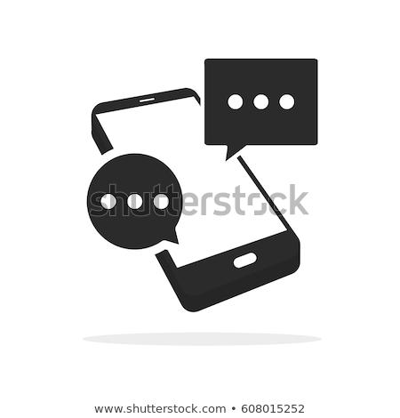 Messaggio sms telefono icone manifesti set Foto d'archivio © robuart