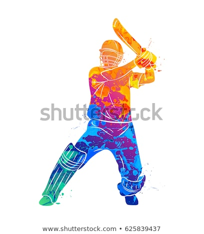 Cricket player batsman vector illustration design. Stock photo © Vicasso