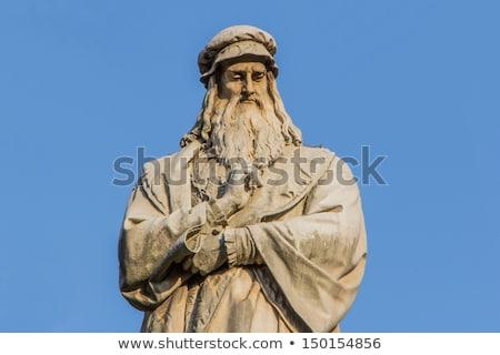 Stockfoto: Leonardo Da Vinci Monument In Milan