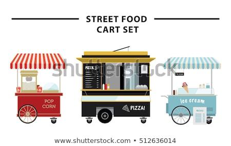 Popcorn Ice Cream Stalls Set Vector Illustration Stock photo © robuart