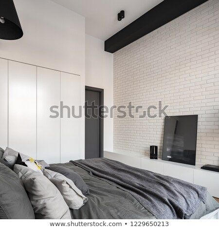 Big comfortable double bed Stock photo © grafvision