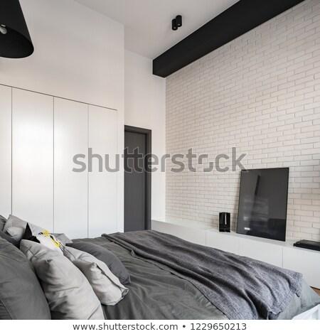 grande · confortável · dobrar · cama · elegante · clássico - foto stock © grafvision