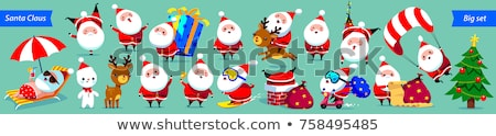ストックフォト: Snowman Christmas Cartoon Character Sign