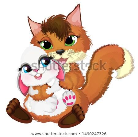 хитрый Cartoon Пасхальный заяц иллюстрация Bunny яйца Сток-фото © cthoman