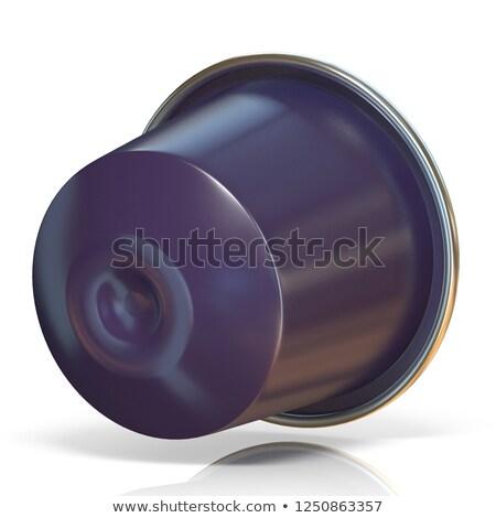 Purple кофе капсула вид сбоку 3D Сток-фото © djmilic