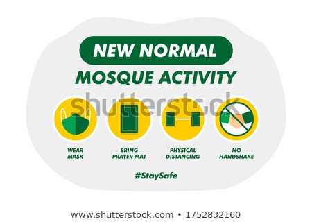 muslim islam mosque theme sign Stock photo © vector1st