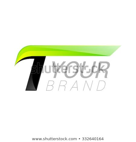 Groene zwarte eenvoudige vector logo Stockfoto © blaskorizov