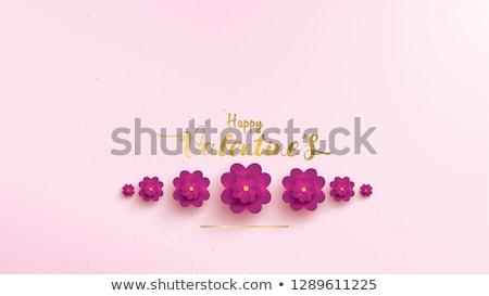 Valentin nap ibolya rózsák friss rózsa virágok Stock fotó © neirfy
