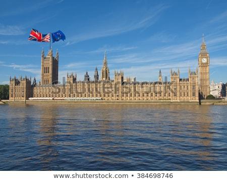 Dos casas banderas Reino Unido ue aislado Foto stock © MikhailMishchenko