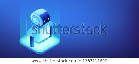 ロボット工学 プログラミング アイソメトリック 3D バナー ヘッダ ストックフォト © RAStudio