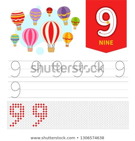 мальчика числа девять стороны фон искусства Сток-фото © colematt