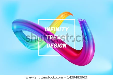 colorful 3d fluid loop abstract background Foto stock © SArts