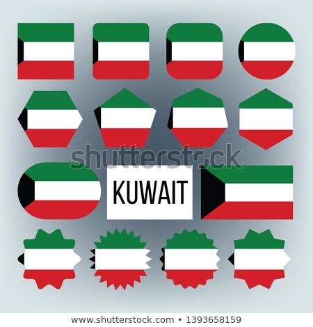 Кувейт флаг коллекция Рисунок вектора Сток-фото © pikepicture
