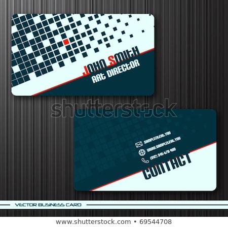 Abstrato azul meio-tom cartão de visita projeto conjunto Foto stock © SArts