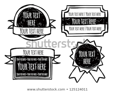 Hand Drawn Classical Advertising Ribbon Vector Stock photo © pikepicture