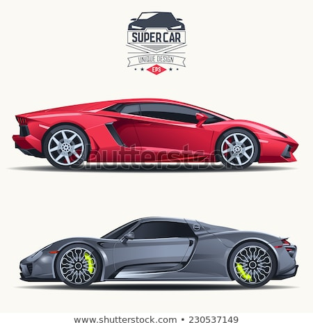 moderne · auto · logo · illustratie · Rood - stockfoto © ipajoel
