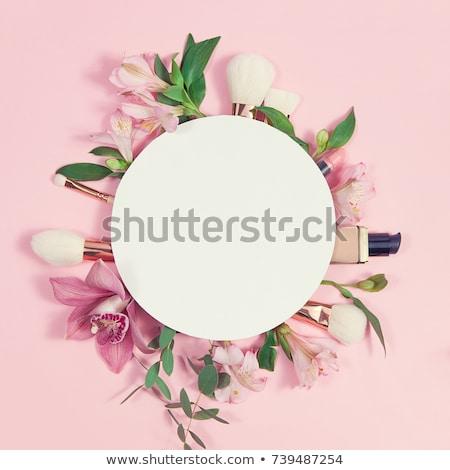 Szépség kozmetika sminkecset fekete természetes bézs Stock fotó © serdechny