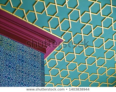 Classical oriental design, calligraphy pattern art on Topkapi pa Stock photo © boggy