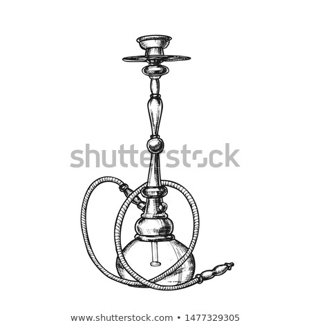 Hookah Lounge Cafe Equipment Hand Drawn Vector Stock photo © pikepicture