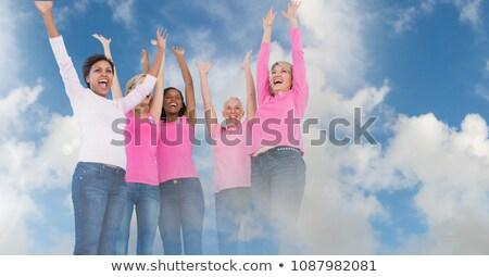 乳癌 女性 トランジション 曇った 空 デジタル複合 ストックフォト © wavebreak_media