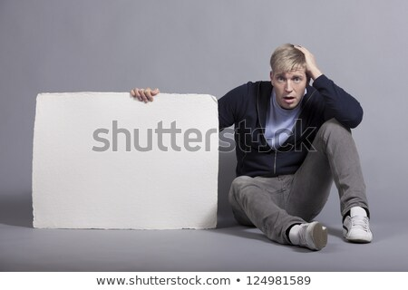 расстраивать человека белый пусто панель Сток-фото © lichtmeister