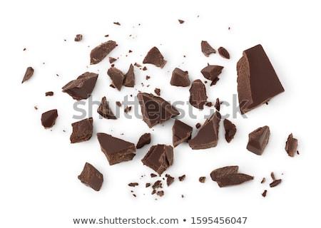 White chocolate blocks isolated on white background  Stock photo © DenisMArt