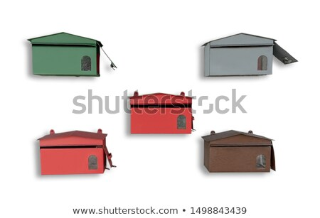 Row of White Mailboxes Isolated on a White Background Stock photo © feverpitch