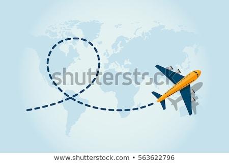 Transport tourisme avion battant vecteur décoration Photo stock © robuart