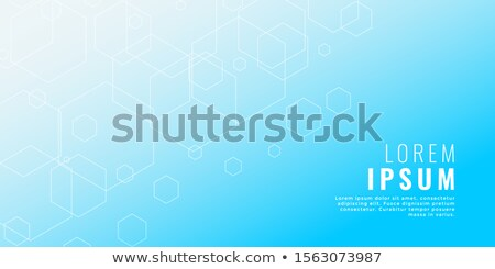 clean blue hexagonal line medical style background Stock photo © SArts