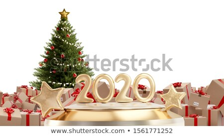2020 pile of wrapped christmas gifts as postal parcel packages 3 Stock photo © Wetzkaz