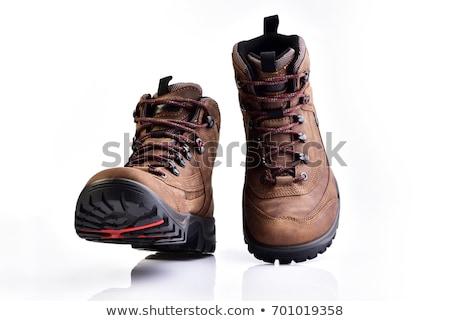 Chłopca buty odizolowany ilustracja uśmiech Zdjęcia stock © bluering