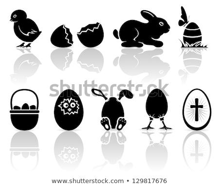 Paskalya yumurtası civciv yuva bahar tatil simge Stok fotoğraf © Lightsource