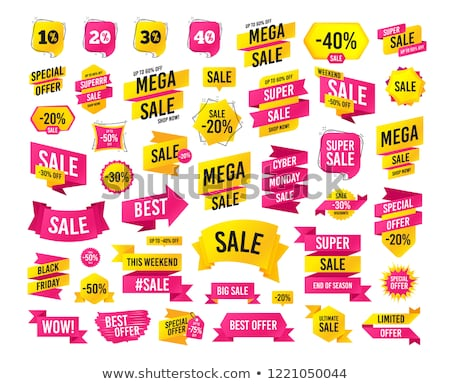 10 por cento redução preço bandeira Foto stock © robuart