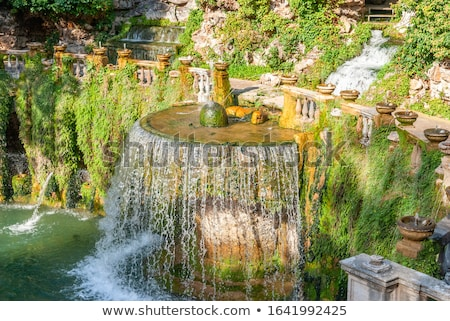 Villa D Este gardens in Tivoli - Oval Fountain local landmark of Stock photo © Zhukow