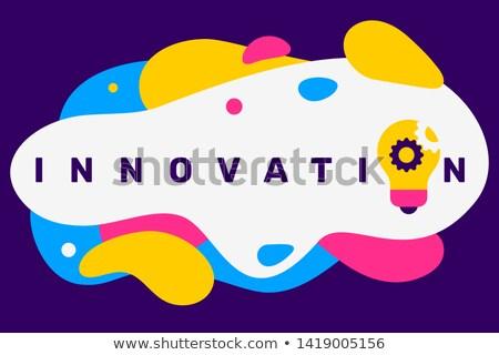 チームワーク 革新 タイポグラフィ バナー 水平な ストックフォト © -TAlex-