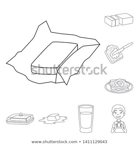 Brinde manteiga ícone vetor Foto stock © pikepicture