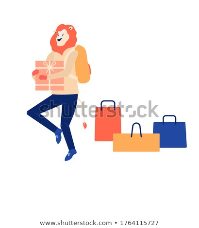 Shopping time, Family Purchasing Gifts, Web Page Stock photo © robuart